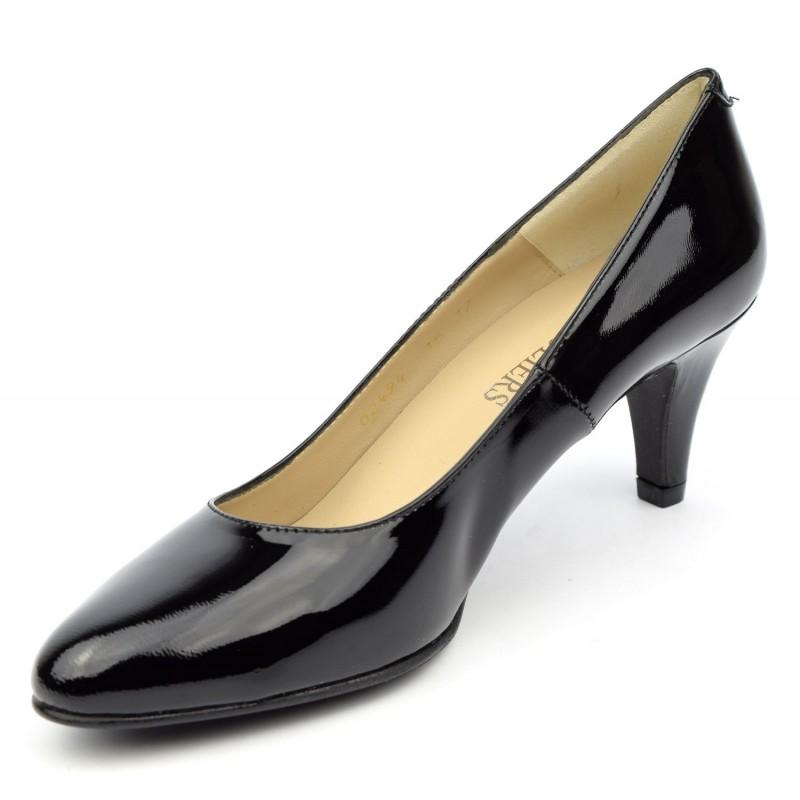 escarpins cuir vernis noir cumbia ultim 39 8 souliers. Black Bedroom Furniture Sets. Home Design Ideas